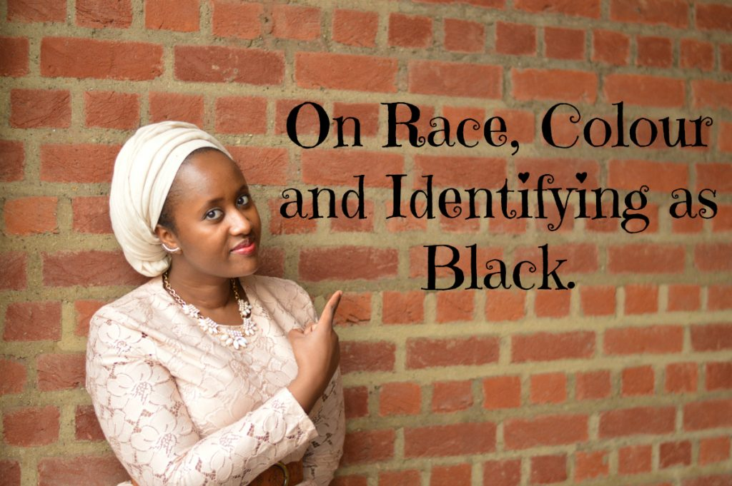 text of Race, Colour and IDENTIFYING AS BLACK